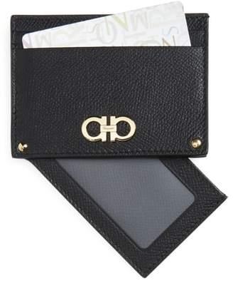 Salvatore Ferragamo Gancio Leather Card Case