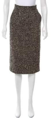Pedro Del Hierro Boucle Pencil Skirt