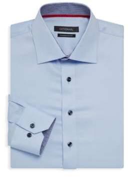 Contemporary-Fit Gingham-Trim Dress Shirt