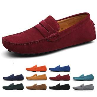 492dffb3764 Jusefu Men s Penny Loafers Suede Moccasins Driving Shoes Leather Boat Shoes  Causal Dress Slip-on