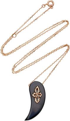 Pascale Monvoisin Sunday Black Bakelite Necklace