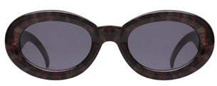 MinkPink Retrospect Sunglasses Grey Leopard