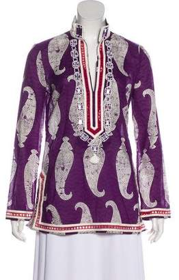 Tory Burch Printed Long Sleeve Tunic