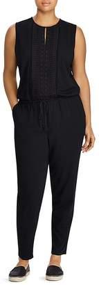 Lauren Ralph Lauren Plus Embroidered Skinny Jumpsuit