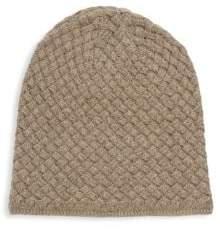 Portolano Basket Weave Cashmere, Silk & Wool Beanie
