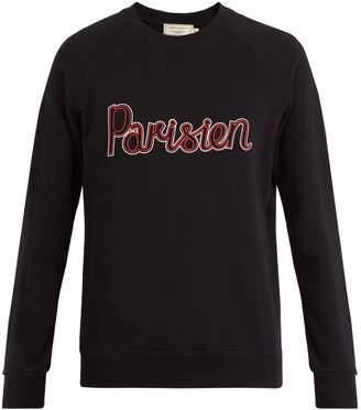 MAISON KITSUNÉ Parisian-print crew-neck cotton sweatshirt