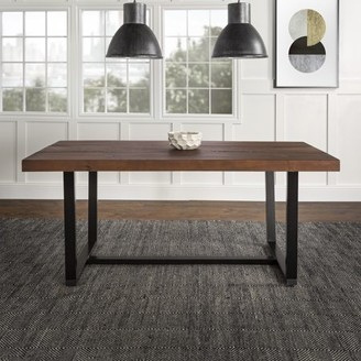 """Manor Park 72"""" Rustic Solid Wood Dining Table - Mahogany"""