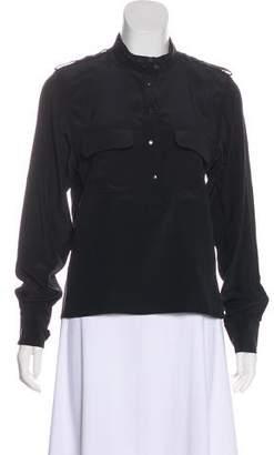 Barbara Bui Long Sleeve Silk Blouse