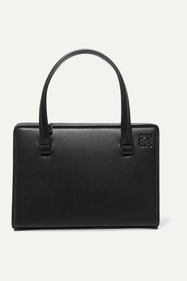 Loewe Postal Small Leather Tote - Black