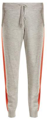Amanda Wakeley Aldridge Side Stripe Cashmere Track Pants - Womens - Light Grey