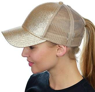 39ddc1e00c1 at Amazon Canada · BEIGE LIWEIKE Ponycap Messy High Bun Ponytail Mesh  Trucker Baseball Cap Hat Style 2))