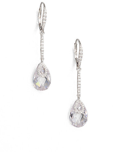 Adriana Orsini Faceted Drop Earrings/Clear