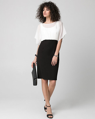 Le Château Chiffon Scoop Neck Shift Dress