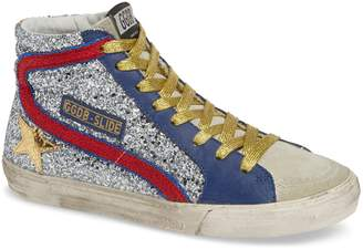Golden Goose Slide Glitter High Top Sneaker