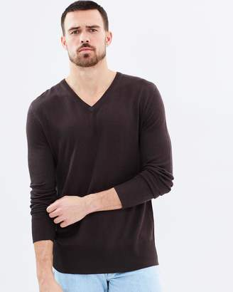 V-Neck Bamboo Cashmere Wool Knit