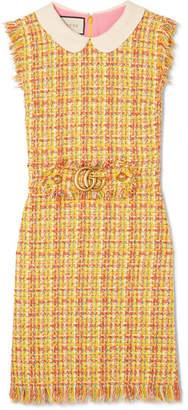 Gucci Frayed Tweed Mini Dress - Yellow