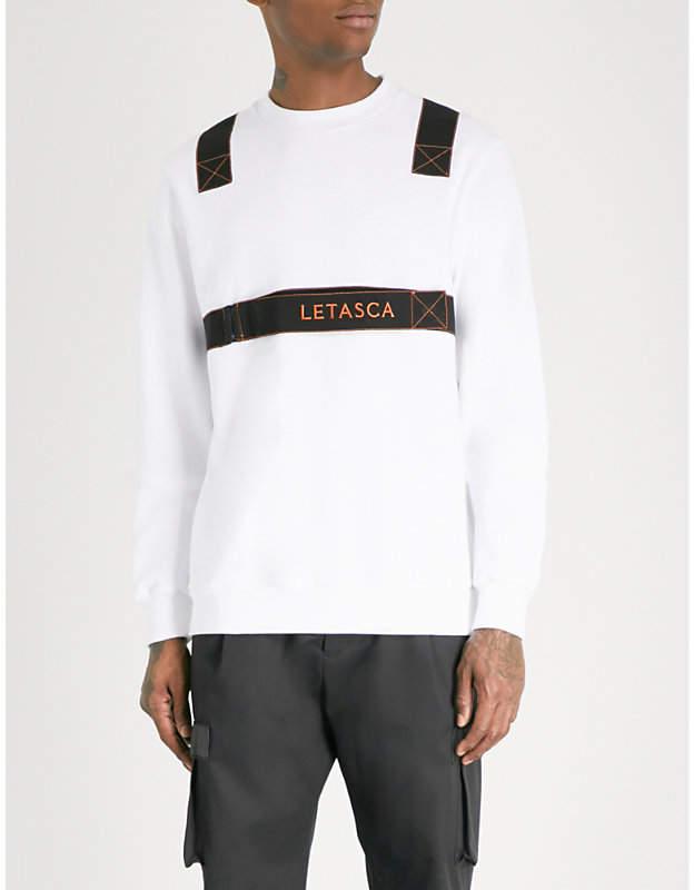 Letasca Harness-trimmed cotton-jersey sweatshirt