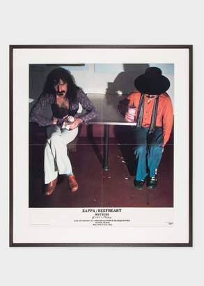 Paul Smith Vintage Framed Poster - Frank Zappa And Captain Beefheart - Bongo Fury 1975
