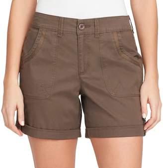 Gloria Vanderbilt Women's Misha Twill Button-Tab Shorts