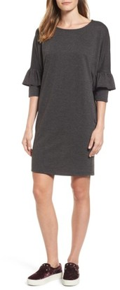 Women's Bobeau Ruffle Sleeve Tunic Dress $59 thestylecure.com