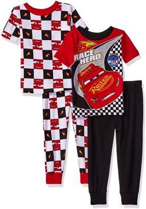 Disney Toddler Boys' Cars 4-Piece Cotton Pajama Set
