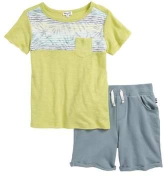 Splendid Reverse Print T-Shirt & Shorts Set