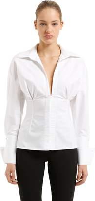 Jacquemus Oxford Paula Cotton Corset Shirt