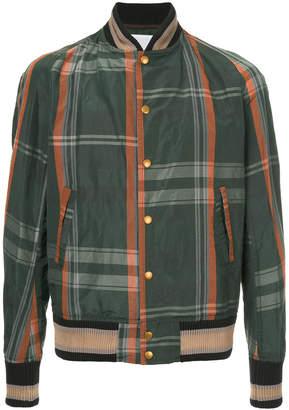 Kolor checked bomber jacket