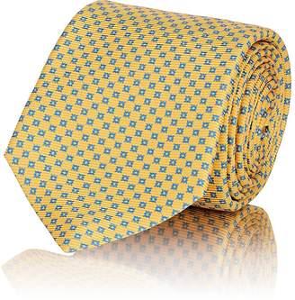 Kiton Men's Blue Dot Silk Faille Tie