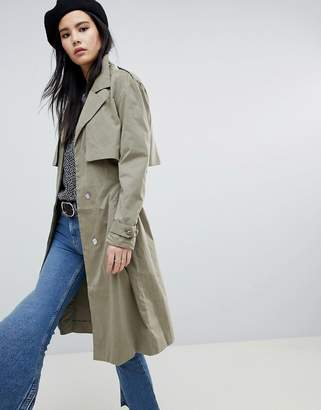 Soaked In Luxury Cupro Trench Coat