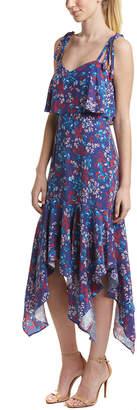 Parker Tina Silk Midi Dress