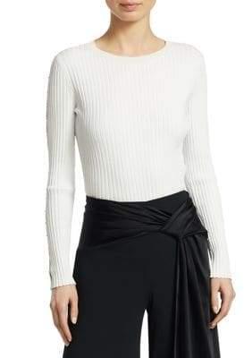 Jonathan Simkhai Ribbed Cutout Sweater