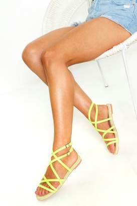 boohoo Multi Strap Espadrille Sandals