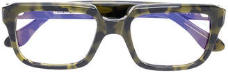 Cutler & Gross camouflage square frame glasses