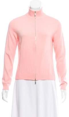 Malo Zip-Up Long Sleeve Sweater