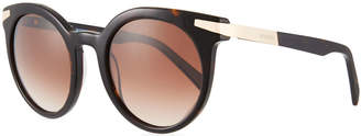 Balmain Round Gradient Acetate & Metal Sunglasses