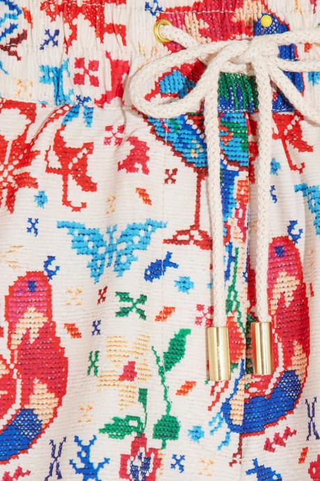 Zimmermann Tapestry printed board shorts