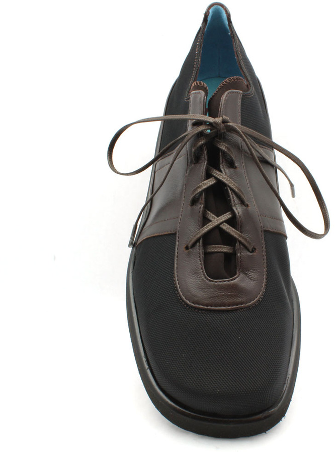 """Thierry Rabotin 7543V"""" Brown/Black Microfiber and Leather Oxford"""