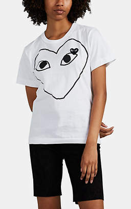 Comme des Garcons Women's Heart Cotton T-Shirt - White