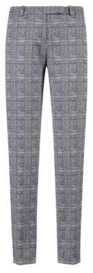 HUGO Boss Cropped cigarette pants in black-and-white check pattern 2 Patterned