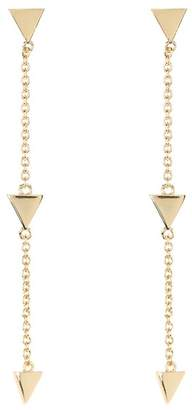 Shashi 18K Yellow Gold Plated Sterling Silver Arrow Drop Earrings