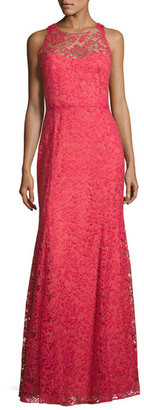 Notte by Marchesa Sleeveless Beaded Lace Illusion Gown, Sienna $1,195 thestylecure.com
