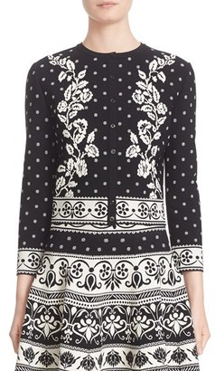 Women's Alexander Mcqueen Floral Jacquard Knit Cardigan $1,495 thestylecure.com
