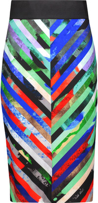 Milly Mirage printed crepe skirt $295 thestylecure.com