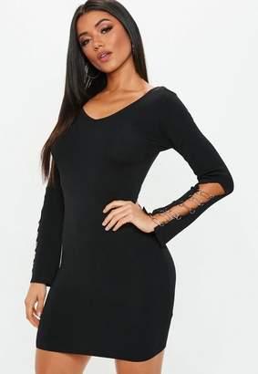 Missguided Black Knit Mini Dress