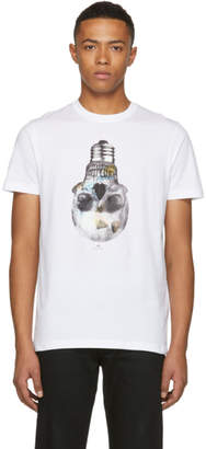 Paul Smith White Slim Fit Skull T-Shirt