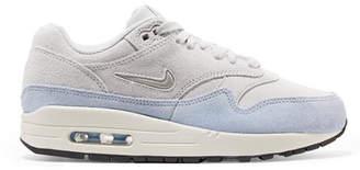 Nike Air Max 1 Premium Sc Two-tone Suede Sneakers - Light gray