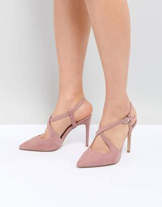 New Look Cross Strap Pointed Court