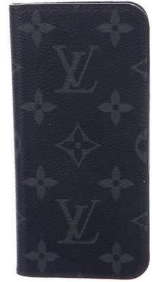 Louis Vuitton 2016 Monogram Eclipse iPhone 7 Folio