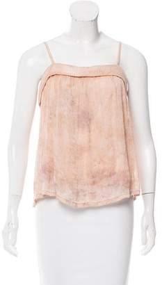 Raquel Allegra Printed Silk Top w/ Tags